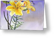 Daylilies Greeting Card