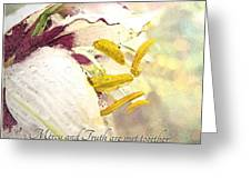 Daylily Photoart With Verse Greeting Card