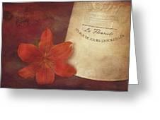 Daylily Vintage Postcard Greeting Card