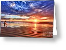 Days End Greeting Card