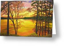 Day's End On Lake Talquin Greeting Card
