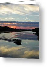 Day's End On The Sebec River Greeting Card