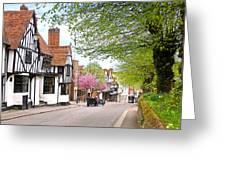 Days Gone By In Bishop's Stortford High Street Greeting Card