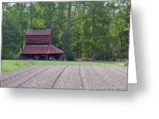 Days Gone By--tobacco Barn Series  Greeting Card