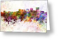 Dayton Skyline In Watercolor Background Greeting Card