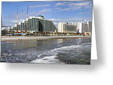 Daytona Beach Panorama Greeting Card
