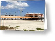 Daytona Beach Pier Pano Greeting Card