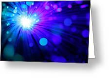 Dazzling Blue Greeting Card