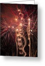 Dazzling Fireworks Greeting Card by Garry Gay