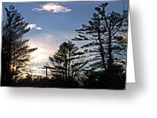 Dazzling Sunset Greeting Card