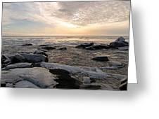 Dazzling Winter On Lake Superior Greeting Card