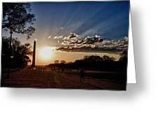 Dc Monument Sunset Greeting Card