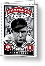 Dcla Tris Speaker Fenway's Finest Stamp Art Greeting Card by David Cook Los Angeles