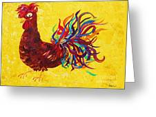 De Colores Rooster Greeting Card