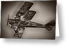 De Havilland Dh-82a Tiger Moth V5 Greeting Card