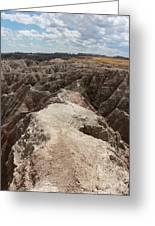 Dead End Trail In Badland National Park South Dakota Greeting Card