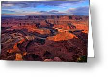 Dead Horse Point Sunrise Greeting Card
