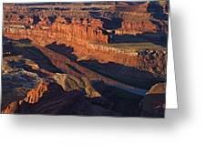 Dead Horse Point Sunrise Panorama Greeting Card