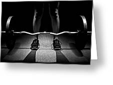 Dead Lift Position Greeting Card
