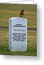 Dead Robin Greeting Card