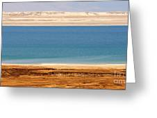 Dead Sea Shoreline In Jordan Greeting Card