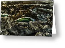 Dead Sea Sink Holes Greeting Card by Dan Yeger