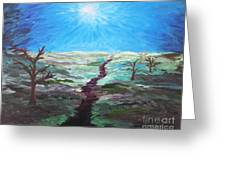 Dead Trees On The Moor Greeting Card