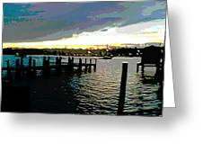 Deale Maryland Harbour Seascape Greeting Card