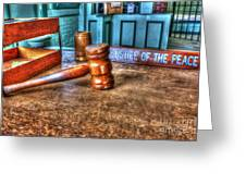 Dealing Justice Greeting Card