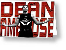 Dean Ambrose Why So Serious Greeting Card