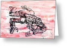 Death Of A Matador Greeting Card