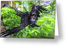 Death Raven Hanging In The Rope Greeting Card