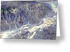 Death Valley From Outer Space Greeting Card