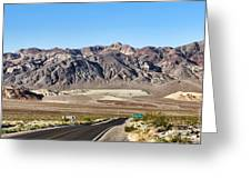 Death Valley Highway Greeting Card