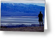 Death Valley National Park Overview Of Badwater Basin Greeting Card