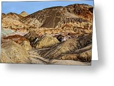 Death Valley Painted Mountains Greeting Card