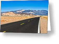 Death Valley Rd Greeting Card