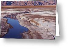 Death Valley Salt Stream 1-h Greeting Card