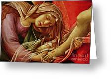 Deatil From The Lamentation Of Christ Greeting Card