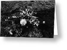 Debbie C's Grave American Flag Evergreen Cemetery Tucson Arizona 1991 Greeting Card