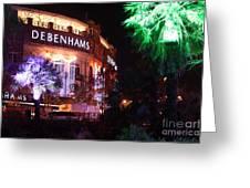 Debenhams Bournemouth At Christmas Greeting Card