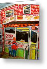 Decarie Hot Dogs Montreal Greeting Card