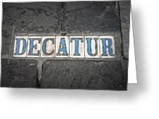 Decatur Greeting Card