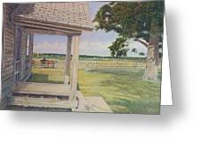 Decayed Farm House Greeting Card