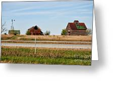 Decaying Farm Central Il Greeting Card