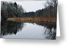 December Landscape Greeting Card by Luke Moore