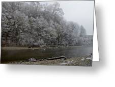 December Morning On The River Greeting Card
