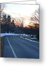 December Sunset Greeting Card