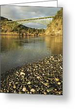 Deception Pass Bridge Whidbey Isl Greeting Card