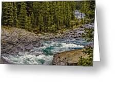 Dechutes River Rapids Bend Oregon Greeting Card